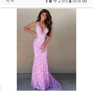 Jovani lace dress gown